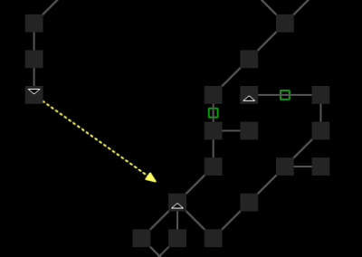 Custom exit lines drawn on the map