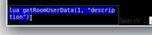 Screenshot of the command line